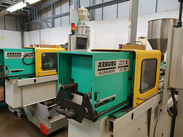 Injection Moulding machine on factory floor