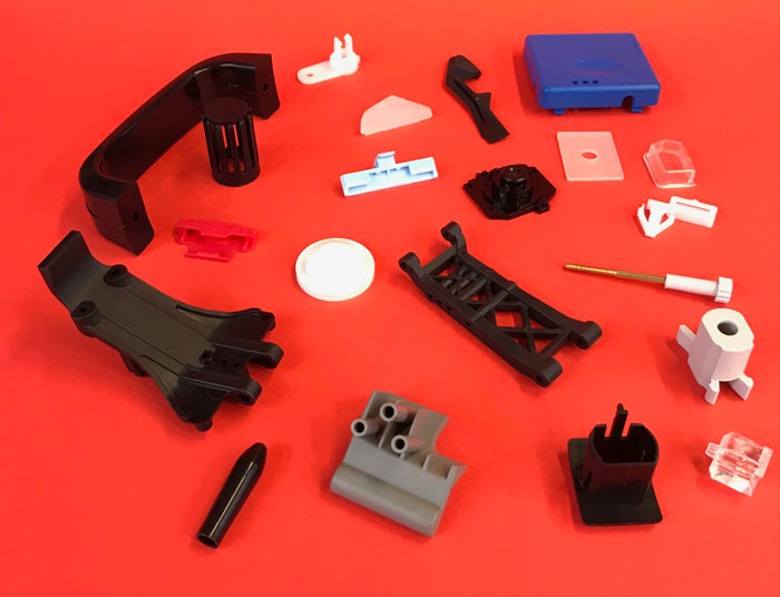 Plastic components produced by Minitek Mouldings in Northampton