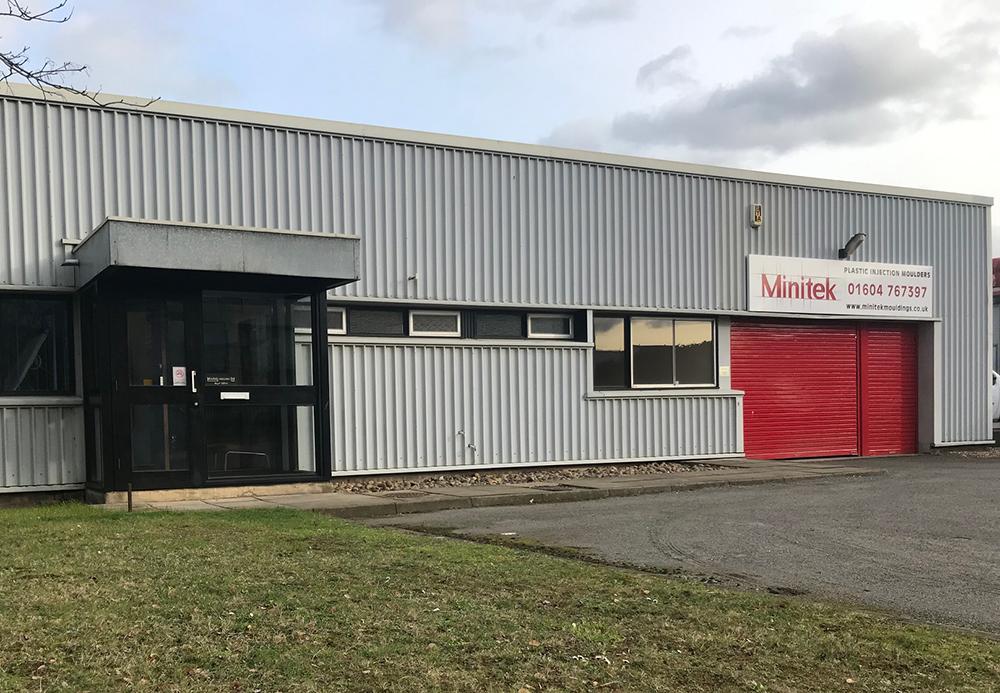 Exterior of Minitek Mouldings factory in Northampton